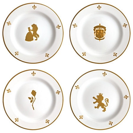 Disney Dessert Plates - Beauty and the Beast - Be Our Guest Plate Set