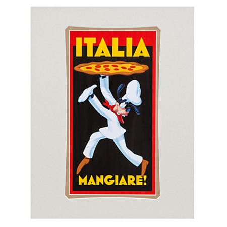 Disney Art Print - Pizza Goofy - Italia Mangiare by Brian Blackmore