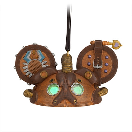 Disney Ear Hat Ornament - Steampunk Mickey - Leather