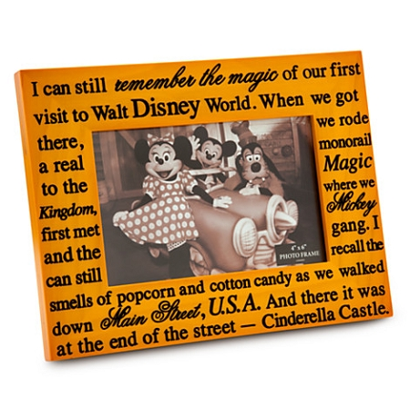 Disney Photo Frame - I Can Still Remember the Magic - 4 x 6