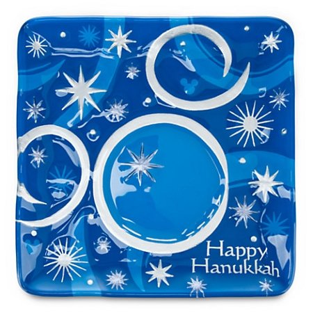 Disney Holiday Plate - Happy Hanukkah - Mickey Mouse Icon