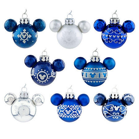 disney christmas ornament set mini mickey mouse ears blue - Mickey Mouse Ornaments Christmas