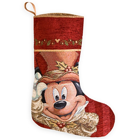 disney christmas stocking victorian mickey mouse face