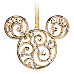 Disney Christmas Ornament - Bohemian Filigree Mickey Mouse - Gold