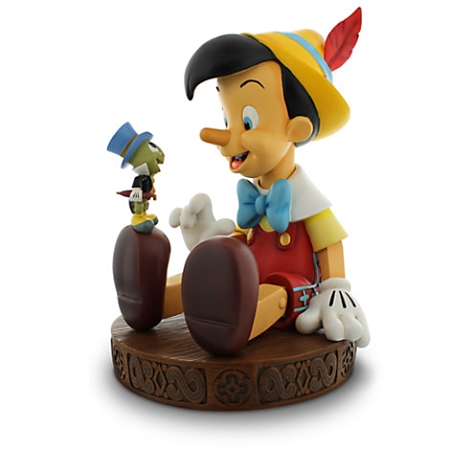 Disney Medium Figure Statue - Pinocchio and Jiminy Cricket