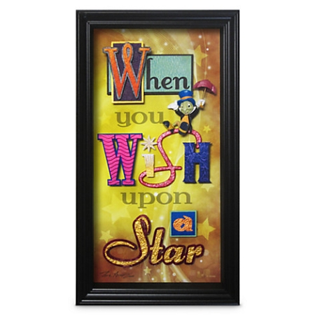 Disney Shadowbox - Jiminy Cricket - When You Wish Upon a Star