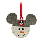 Disney Disc Ornament - Mickey Mouse Icon - Snowman