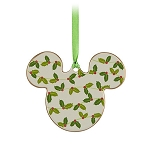 Disney Disc Ornament - Mickey Mouse - Holly