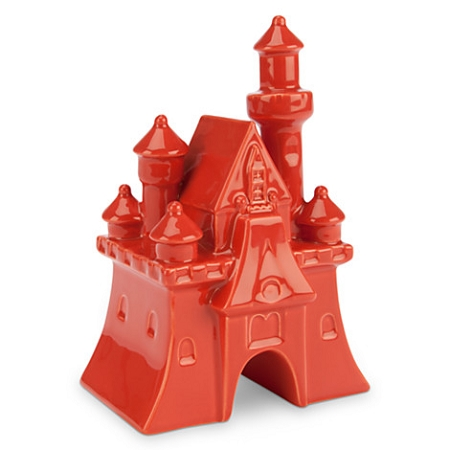 Disney Miniature Figurine - Fantasyland Castle - Dark Orange