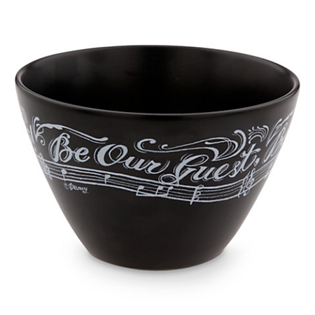 Disney Ceramic Bowl - Be Our Guest - Chalkboard - Lumiere