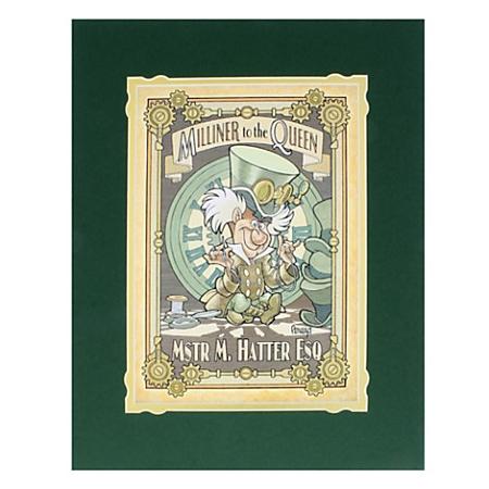 Disney Art Print - Mad Hatter - M  Hatter Milliner to the Queen