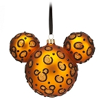 Disney Christmas Ornament - Mickey Mouse Ears - Cheetah