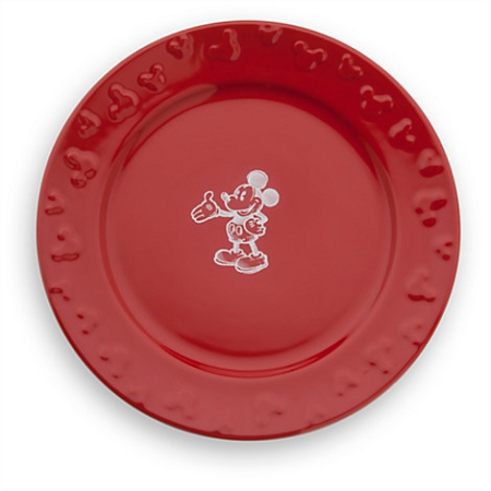 sc 1 st  Magical Ears Collectibles & Disney Dinner Plate - Gourmet Mickey Mouse - Red/White