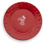 Disney Dinner Plate - Gourmet Mickey Mouse - Red/White