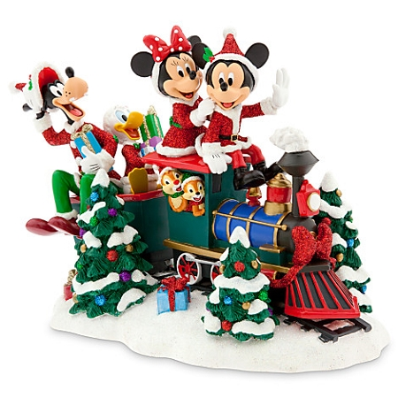 disney christmas figure santa mickey mouse and friends on train - Disney Christmas Train