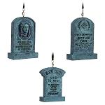 Disney Christmas Ornament Set - The Haunted Mansion Tombstones