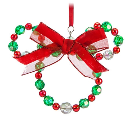 disney christmas ornament minnie mouse bead wreath