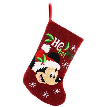 disney christmas stocking mickey mouse ho ho ho - Mickey Mouse Christmas Stocking