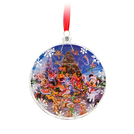 Disney Christmas Ornament - Storybook Mickey Mouse & Friends Window