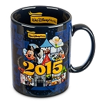 Disney Coffee Cup Mug - 2015 Logo - Mickey Mouse and Friends