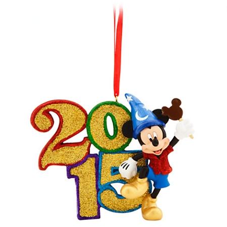 disney christmas ornament 2015 sorcerer mickey mouse figure - Disney Christmas 2015