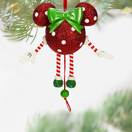 disney christmas ornament dancing minnie mouse icon