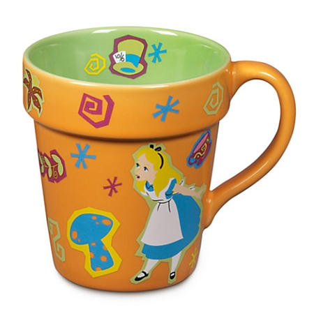 Disney Coffee Cup Mug - Alice in Wonderland Garden