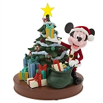 Disney Medium Figure - Retro Santa Mickey Mouse Tree - Light Up