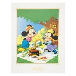Disney Story Book Deluxe Art Print - Mickey & Minnie Picnic