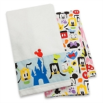 Disney Dish Towel Set - Mickey Mouse and Friends Colorful Towel Set