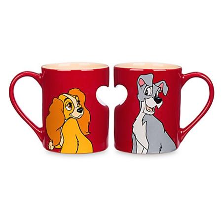 Disney Cup Coffee Mug The Heart And Lady Tramp Set cqAjS53RL4