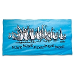 Disney Beach Towel - Finding Nemo Seagulls - Mine Mine Mine - Blue