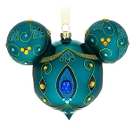 Disney Christmas Ornament - Mickey Mouse Icon - Blue Peacock