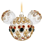 Disney Mickey Ears Christmas Ornament - Mickey Mouse Icon - Bejeweled