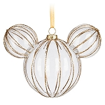 Disney Mickey Ears Ornament - Mickey Mouse Icon - Golden Rib