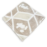 Disney Throw Blanket - Mickey Mouse Geometric Print - Tan