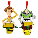 Disney Christmas Ornament Set - Woody and Buzz Lightyear Bells