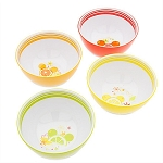 Disney Bowls Set - Citrus Mickey Mouse Icon - Set of 4