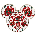Disney Christmas Pin - Holiday Mickey Mouse Icon