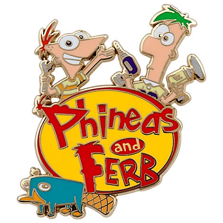 Disney Phineas and Ferb Pin - Perry the platypus Logo