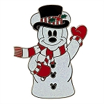 Disney Mickey Mouse Pin - Holiday Snowman