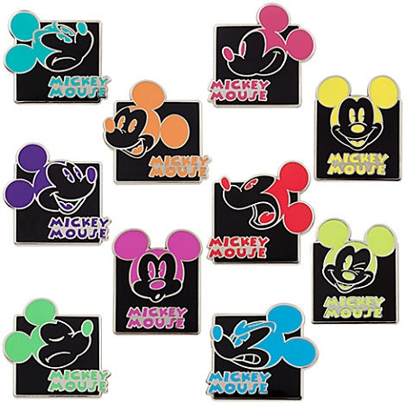 Disney Mystery Pin Set - Mickey Mouse Expressions - 2 Random