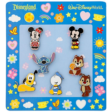Disney Mini Pin Set - Cute Characters - Mickey and Friends