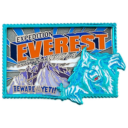 Disney Expedition Everest Pin - Beware of the Yeti