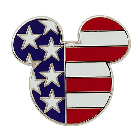 Disney Mickey Icon Pin - American Flag