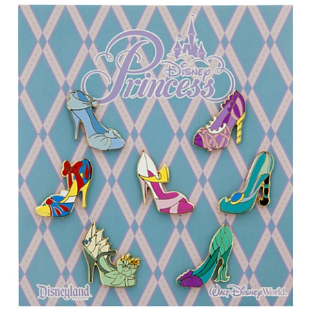 Disney Booster Pin Set - Princess Slippers - 7 Pins