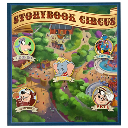 Disney New Fantasyland Pin Set - Storybook Circus - 5 Pins