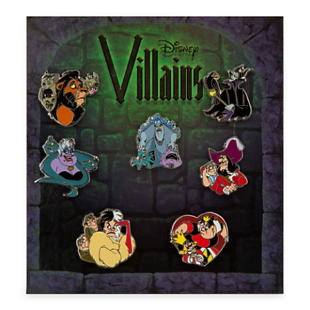 Disney Booster Pin Set - Disney Villians - 7 Pins