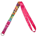 Disney Pin Lanyard - Deluxe Disney Princesses - Dark Pink