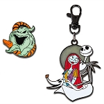 Disney Pin Lanyard Medal and Pin Set - Jack Skellington and Sally